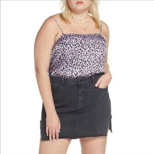 NWT BP. Straight Neck Cami Leopard Print